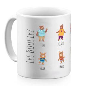 Mug famille ours personnalisé