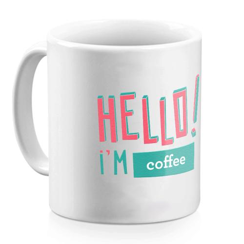 Mug Hello rose personnalisé