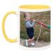 Mug jaune avec photo