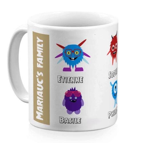 Mug family monster 4 personnes