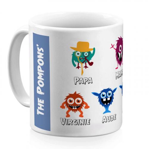 Mug family monster 5 personnes
