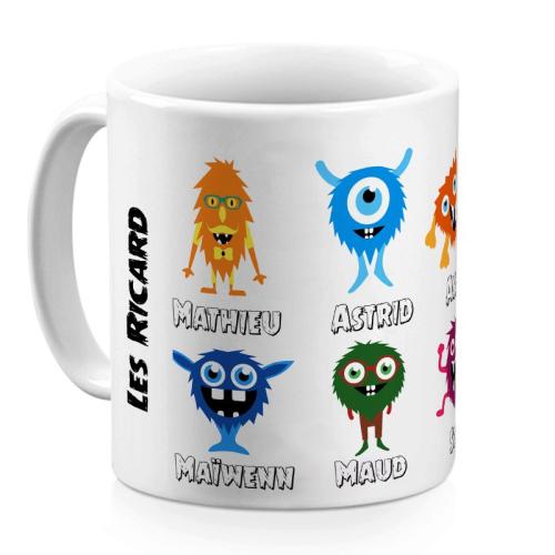 Mug family monster 6 personnes