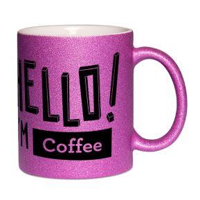 Mug à paillettes personnalisé Hello