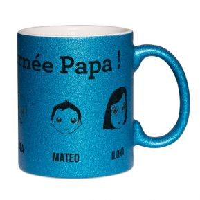 Mug à paillettes personnalisé We are Family