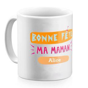 Mug personnalisé Bonne fête ma Maman