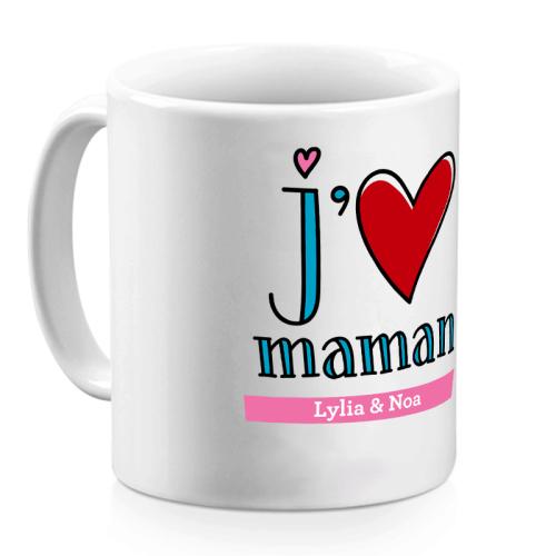 Mug je t'aime maman