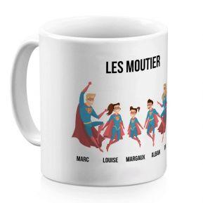 Mug personnalisé super héros