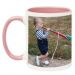 Mug rose avec photo