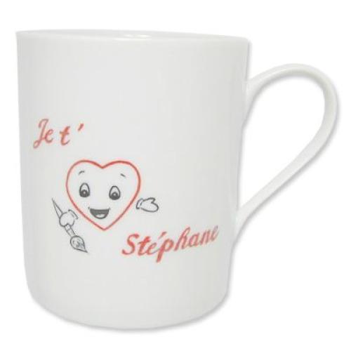 Mug saint Valentin en porcelaine personnalisé