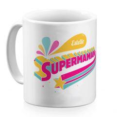 Mug Super maman personnalisé prénom
