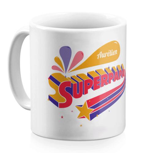 Mug Super papa personnalisé prénom
