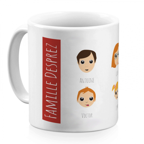Mug rouge WeAreFamily
