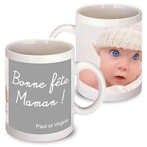 Mug personnalisé pour maman gris
