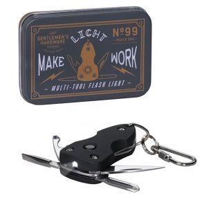 Porte-clés multi-fonctions lampe de poche Gentlemen's Hardware