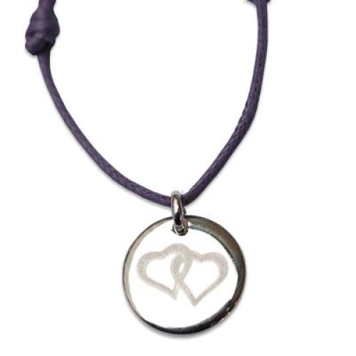 Bracelet romantique en argent massif