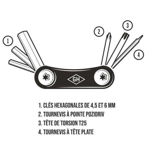 Outil du cycliste multi-fonctions Gentlemen's Hardware