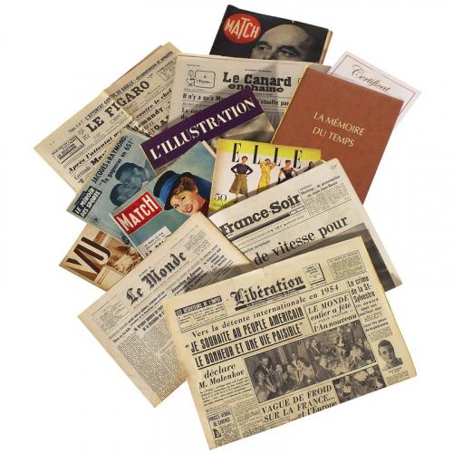 Le magazine et le journal du jour de sa naissance