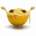 Passoire à spaghetti monstre jaune