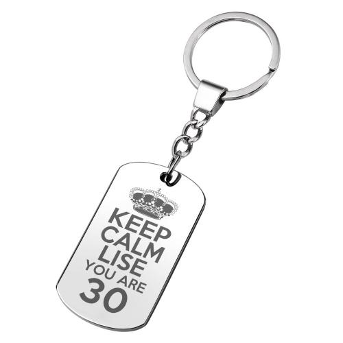 Porte-clés gravé anniversaire