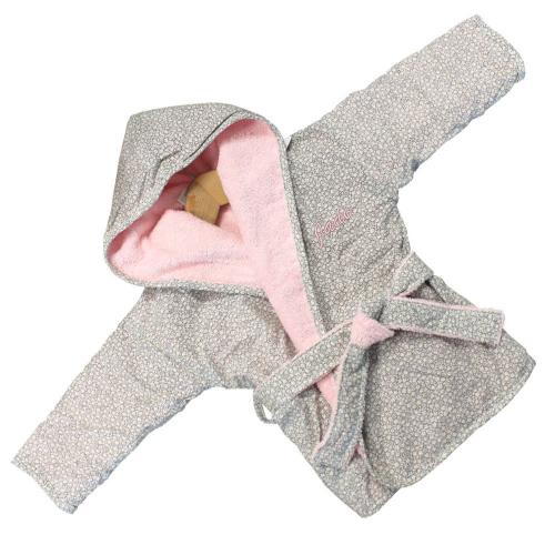 Peignoir bébé claudine personnalisé