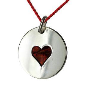 Pendentif coeur de nacre personnalisé