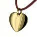 Pendentif coeur gravé plaqué or