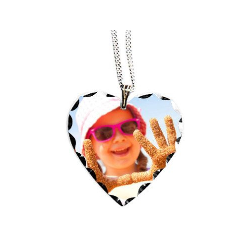 Pendentif coeur photo sublimée