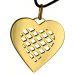 Pendentif coeur quadrillé plaqué or