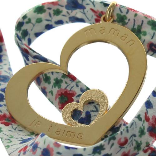 Pendentif fête des mères et ruban Liberty