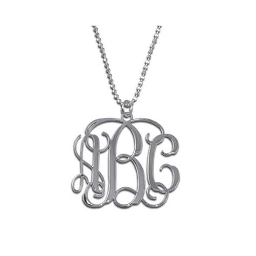 Un pendentif personnalisé avec initiales