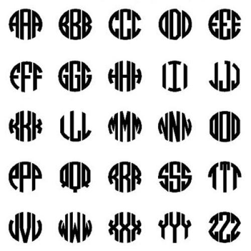 Exemple de pendentifs modernes initiales
