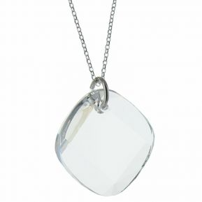 Pendentif losange en cristal