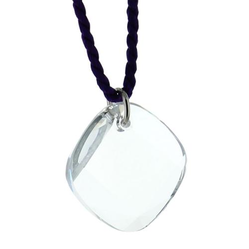 Collier losange en cristal sur cordon
