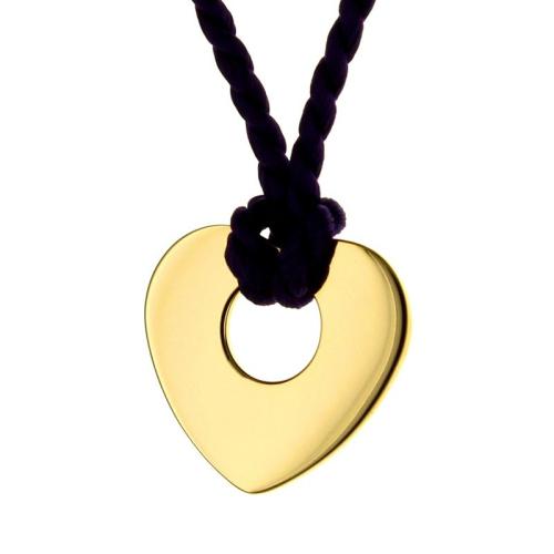 Pendentif petit coeur ajouré plaqué or