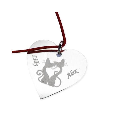 Pendentif coeur en argent avec motifs