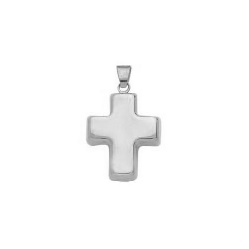 Petite croix en or gris 18 carats