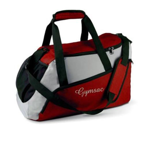 Petit sac de sport rouge personnalisé