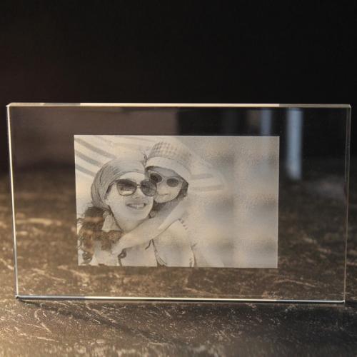 photo sur plaque de verre horizontale