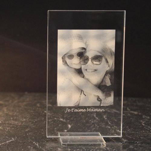 photo sur plaque de verre verticale