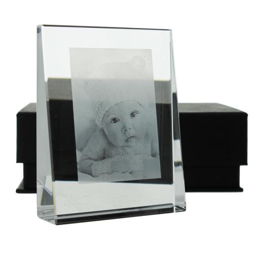 Photo gravée sur prisme en verre