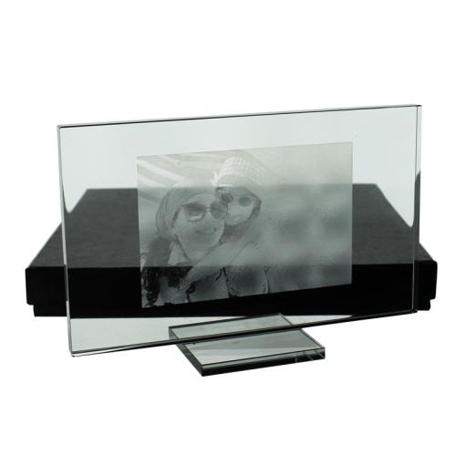 Photo gravée sur plaque de verre