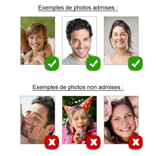 Exemples de photos au bon format