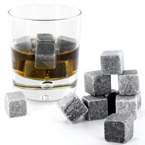 Lot de 9 pierres à Whisky en granit