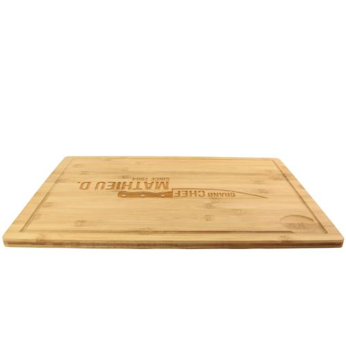 planche à découper en bambou avec rebord