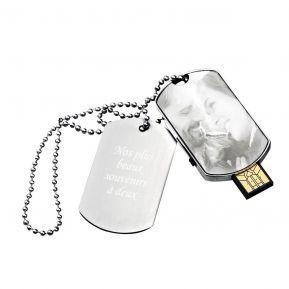 Clé USB 16Go plaque militaire personnalisée photo