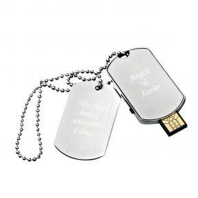 Clé USB 16Go plaque militaire personnalisée texte