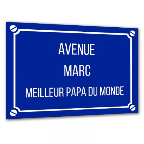 Plaque de rue personnalisée marine