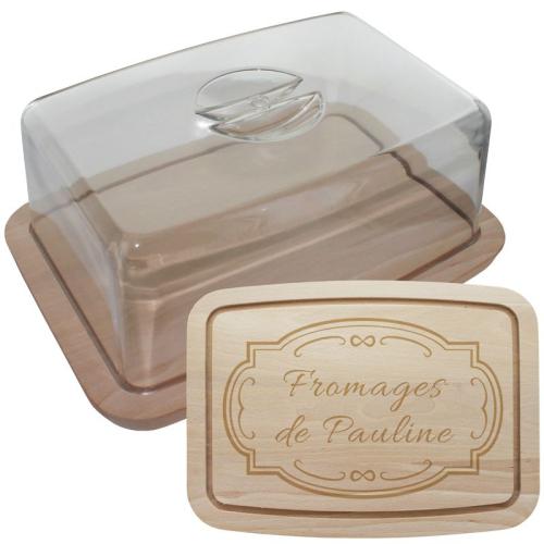 Plateau à fromages personnalisé avec couvercle