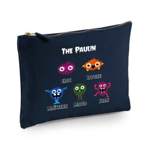 Pochette multi-usages My Monster Family
