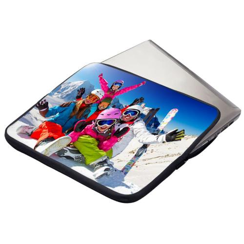Pochette matelassée pour ordinateur portable personnalisée photo